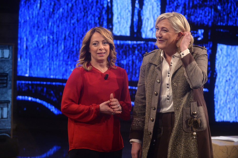 Giorgia Meloni e Marine Le Pen