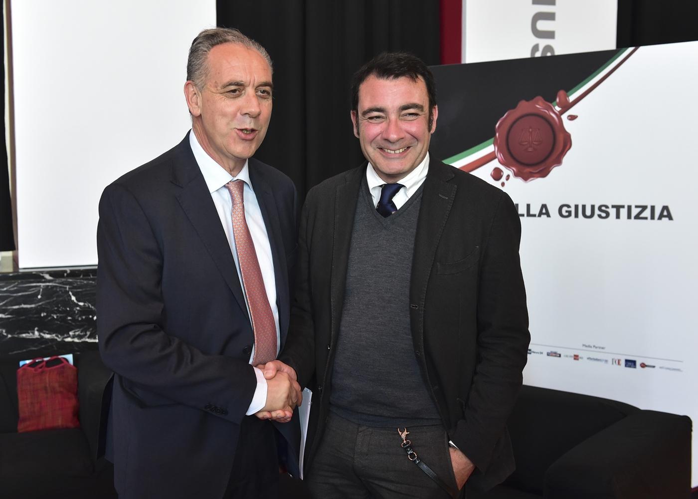 Giovanni Legnini e Eugenio Albamonte