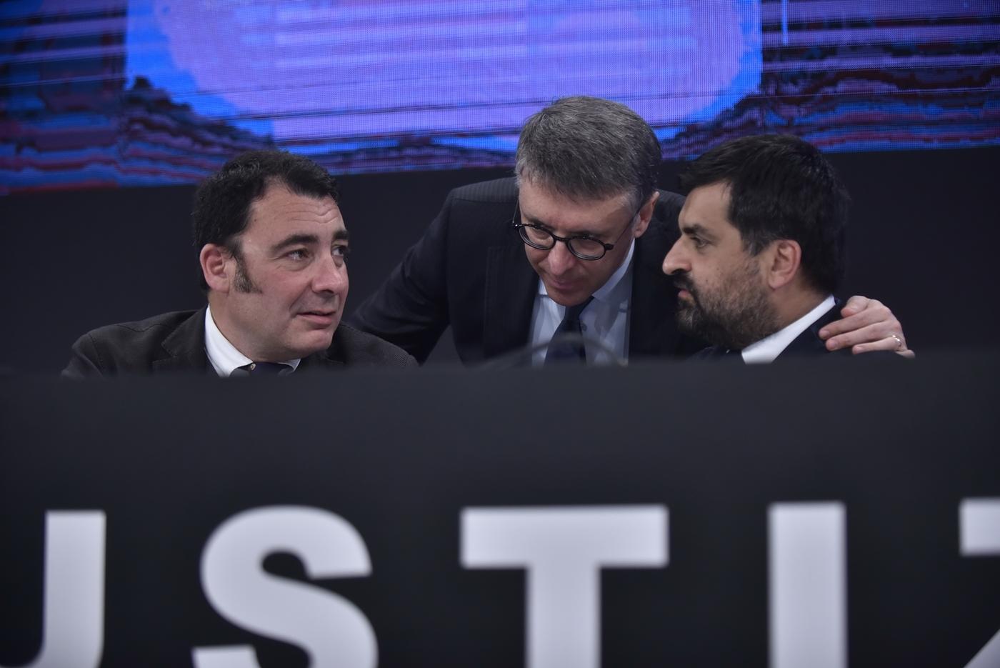Eugenio Albamonte, Raffaele Cantone e Luca Palamara