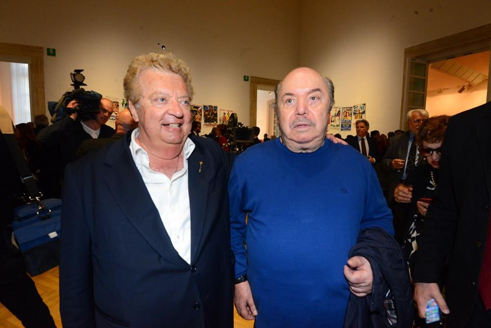 Mario Cecchi Gori e Lino Banfi