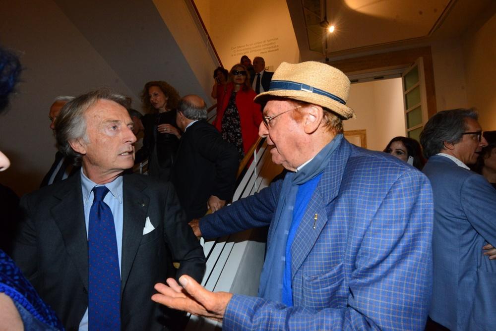 Luca Cordero di Montezemolo e Renzo Arbore