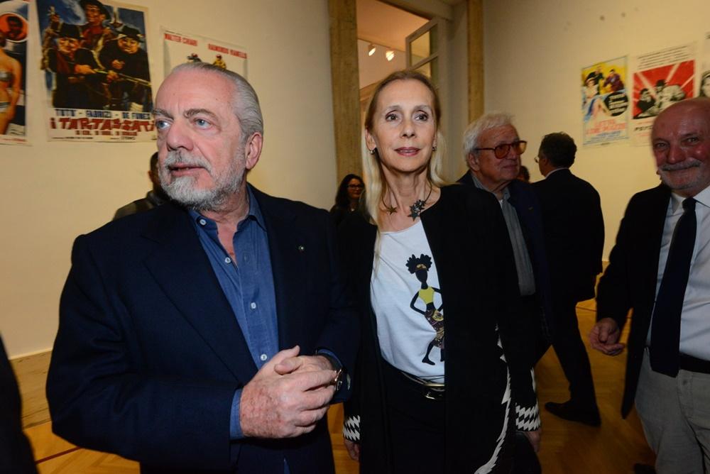 Aurelio De Laurentiis e Jacqueline Baudit