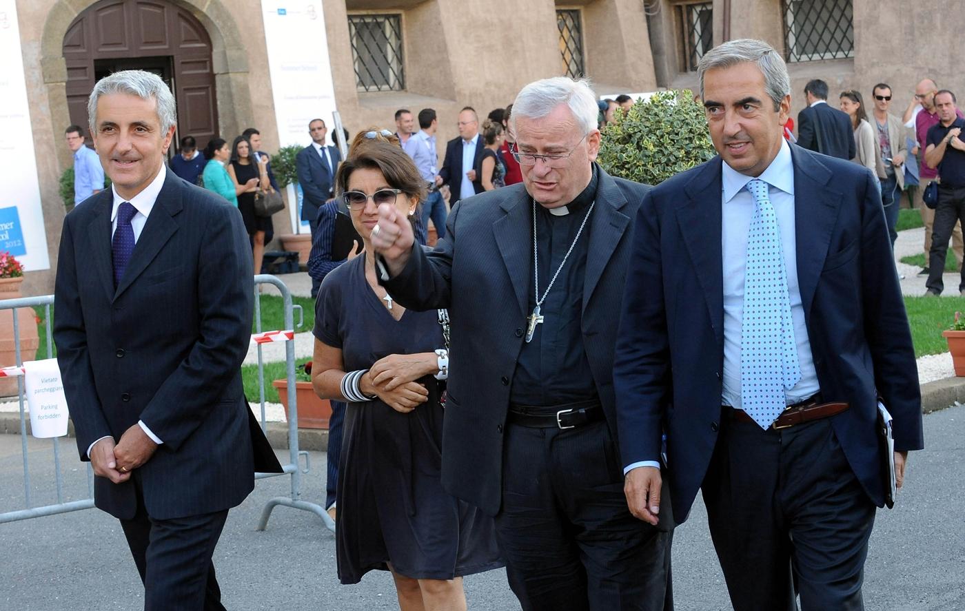 Gaetano Quagliariello, Eugenia Roccella, Gualtiero Bassetti e Maurizio Gasparri
