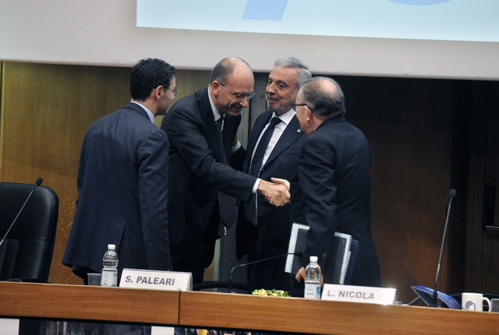 Stefano Paleari, Enrico Letta, Luigi Nicolais e Giorgio Squinzi
