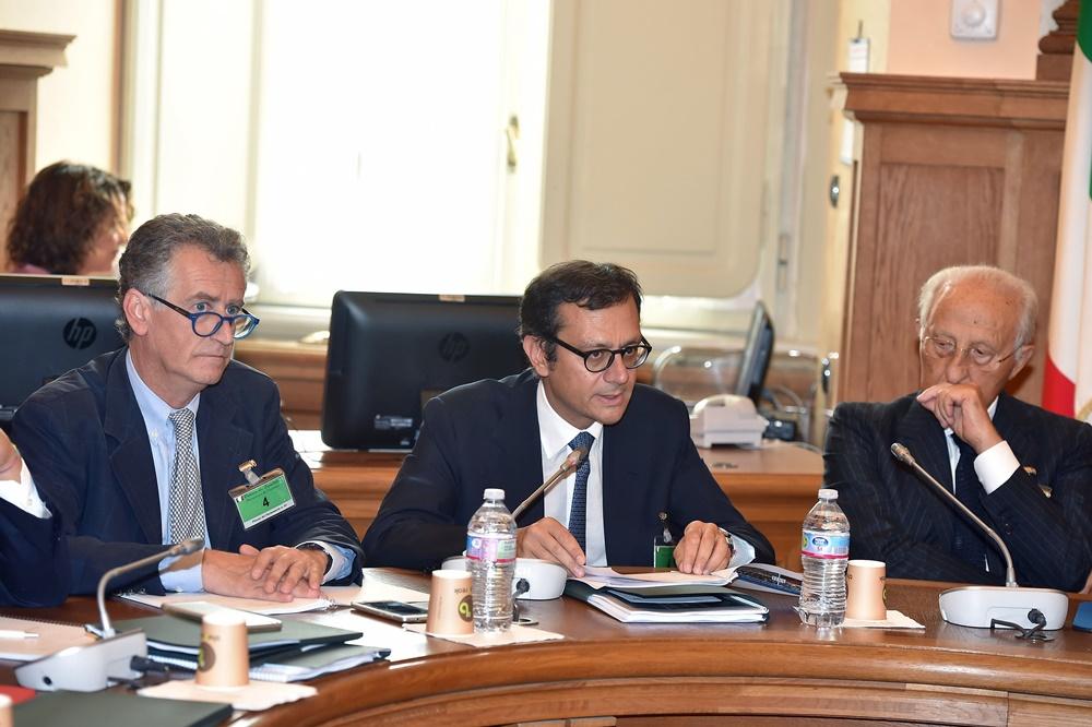 Corrado Carrubba, Enrico Laghi e Piero Gnudi