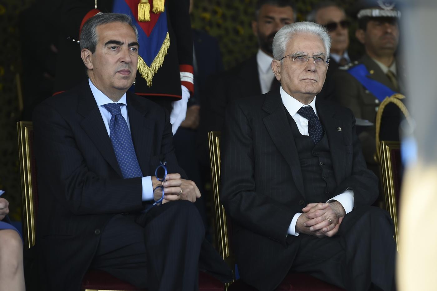 Maurizio Gasparri e Sergio Mattarella
