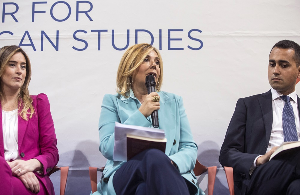 Maria Elena Boschi, Maria Latella e Luigi Di Maio