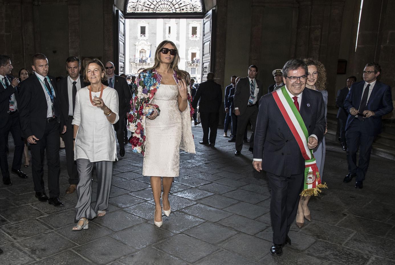 Emanuela Mauro Gentiloni, Melania Trump ed Enzo Bianco