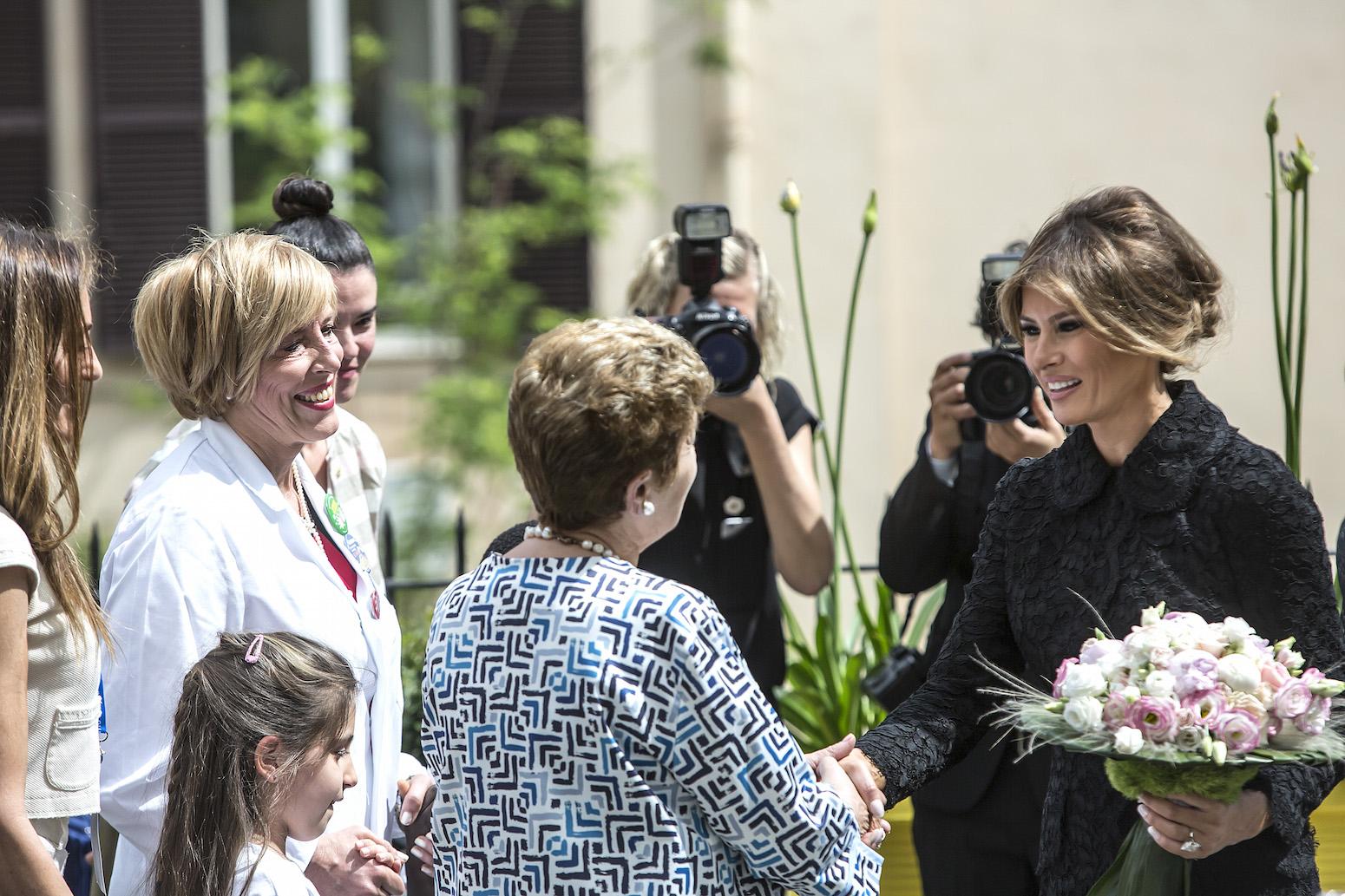 Mariella Enoc e Melania Trump