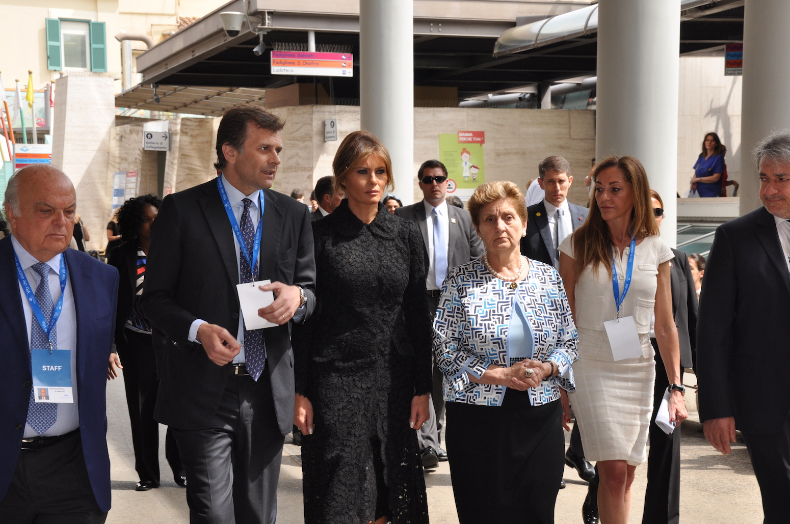 Melania Trump e Mariella Enoc