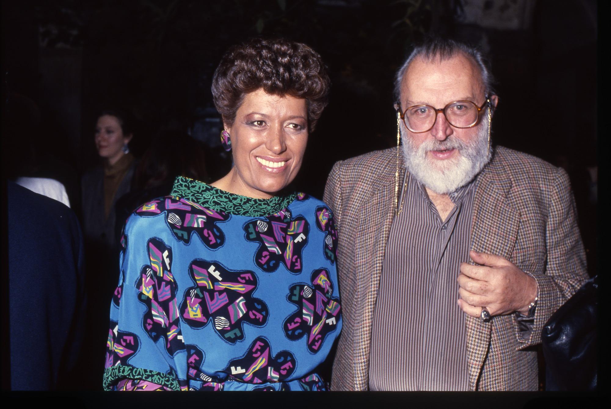 Carla Fendi e Sergio Leone