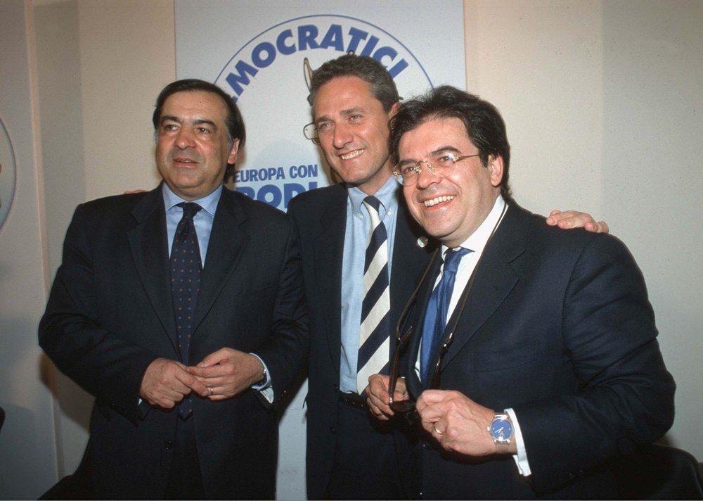 Leoluca Orlando, Francesco Rutelli ed Enzio Bianco (1999)