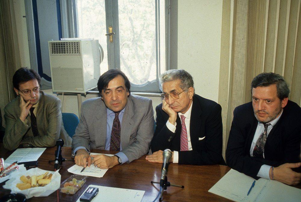 Giuseppe Gambale, Leoluca Orlando e Diego Novelli Inverti (1993)