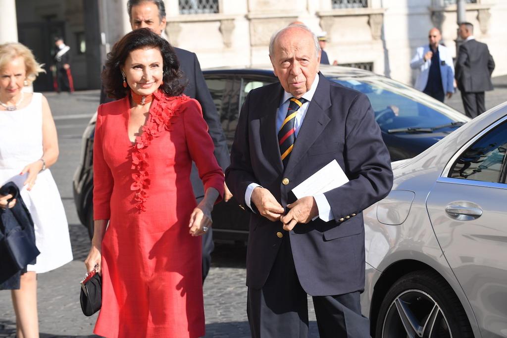Lamberto Dini e sua moglie Donatella