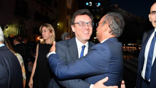 Mario Orfeo e Carlo Conti