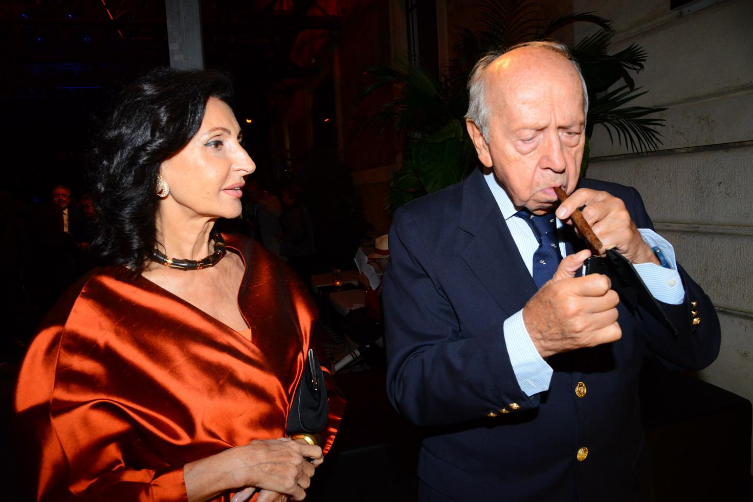 Donatella Zingone e Lamberto Dini
