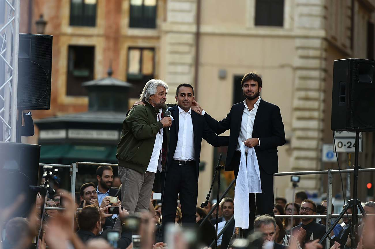 Beppe Grillo, Luigi Di Maio, Alessandro Di Battista