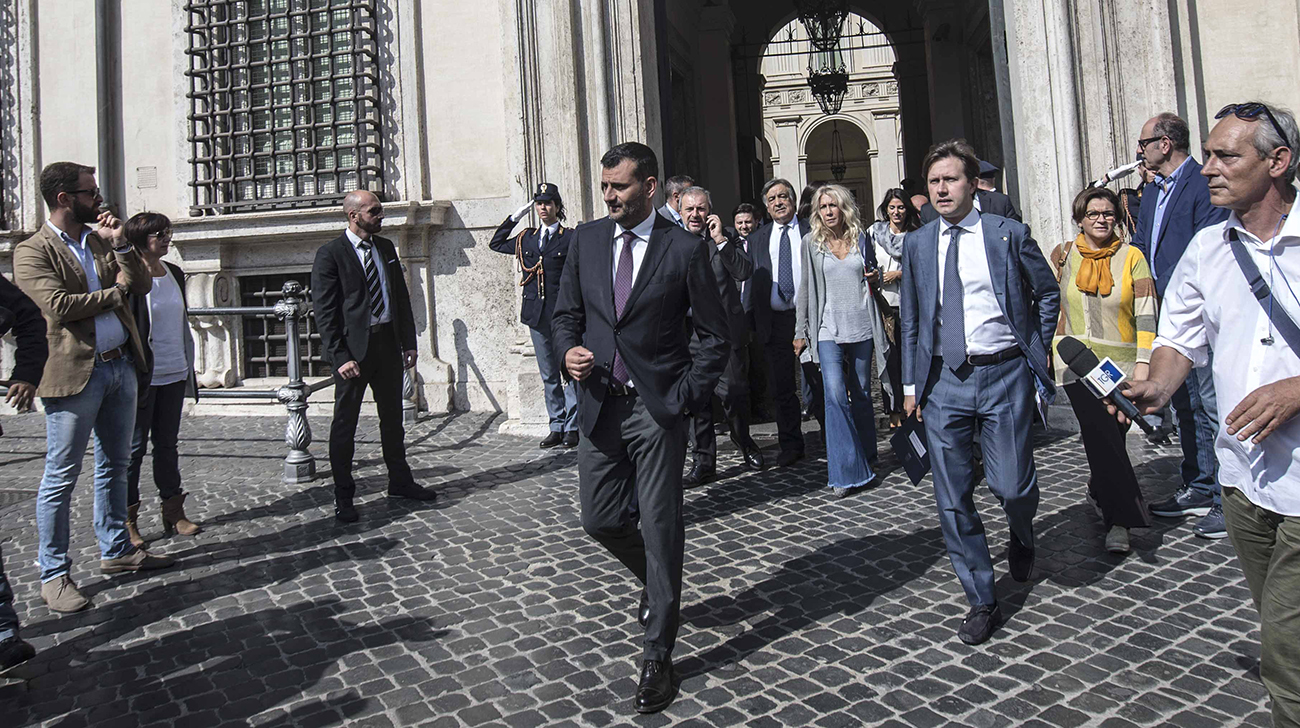 Enzo Decaro, Leoluca Orlando, Virginia Raggi, Dario Nardella