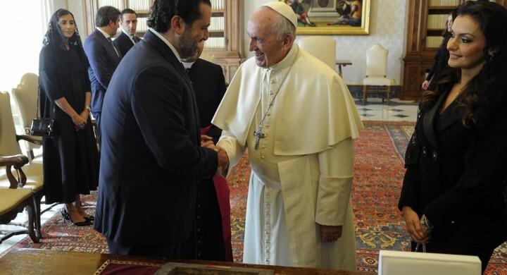 Francesco difende i libanesi e il Mediterraneo (e riceve Hariri)