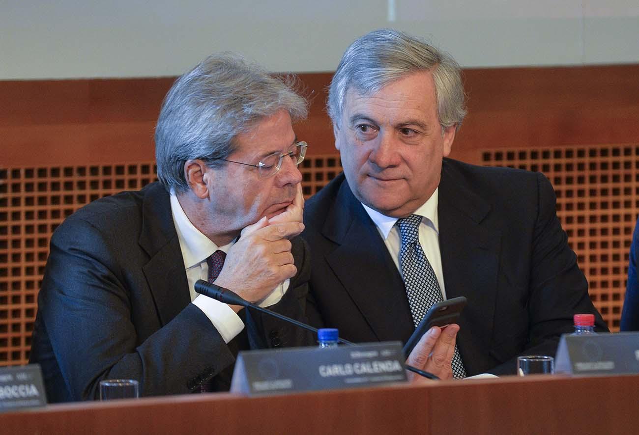 Antonio Tajani, Paolo Gentiloni