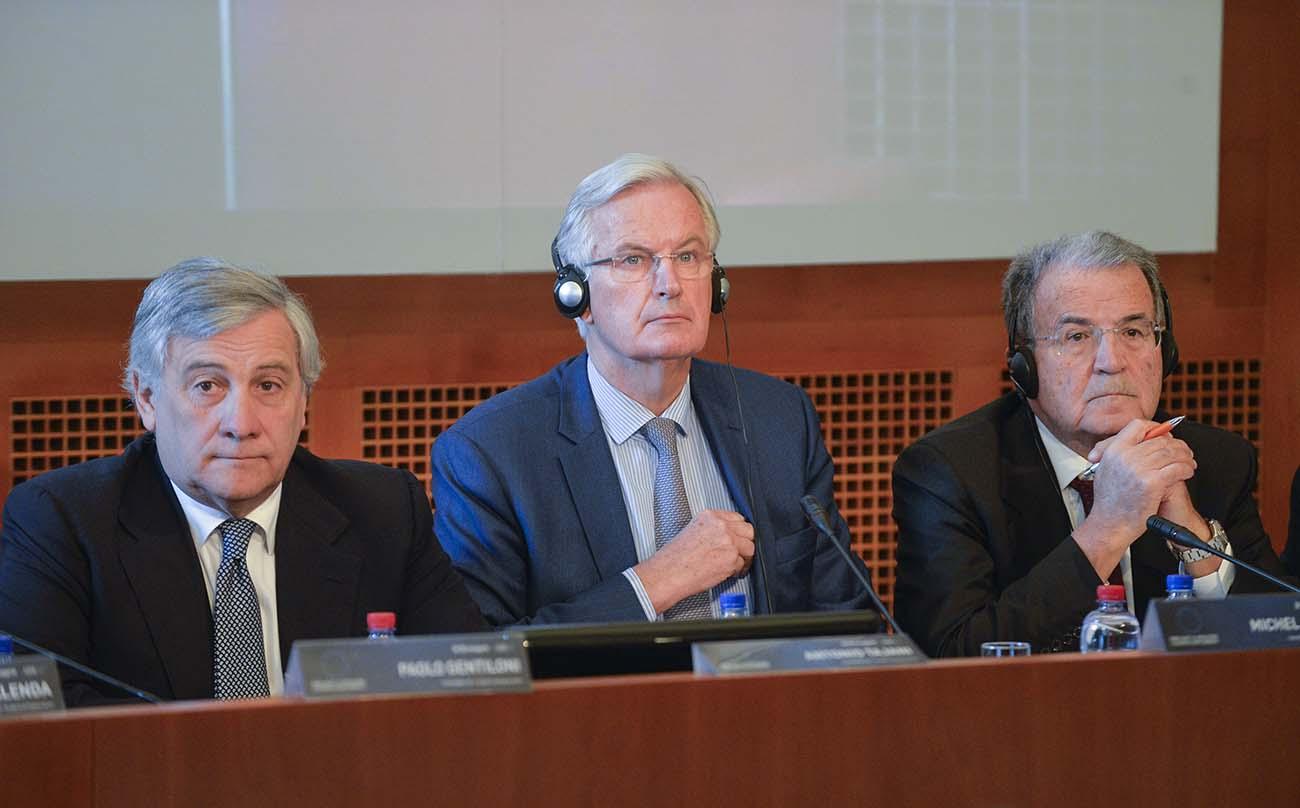 Antonio Tajani, Michel Barnier, Romano Prodi