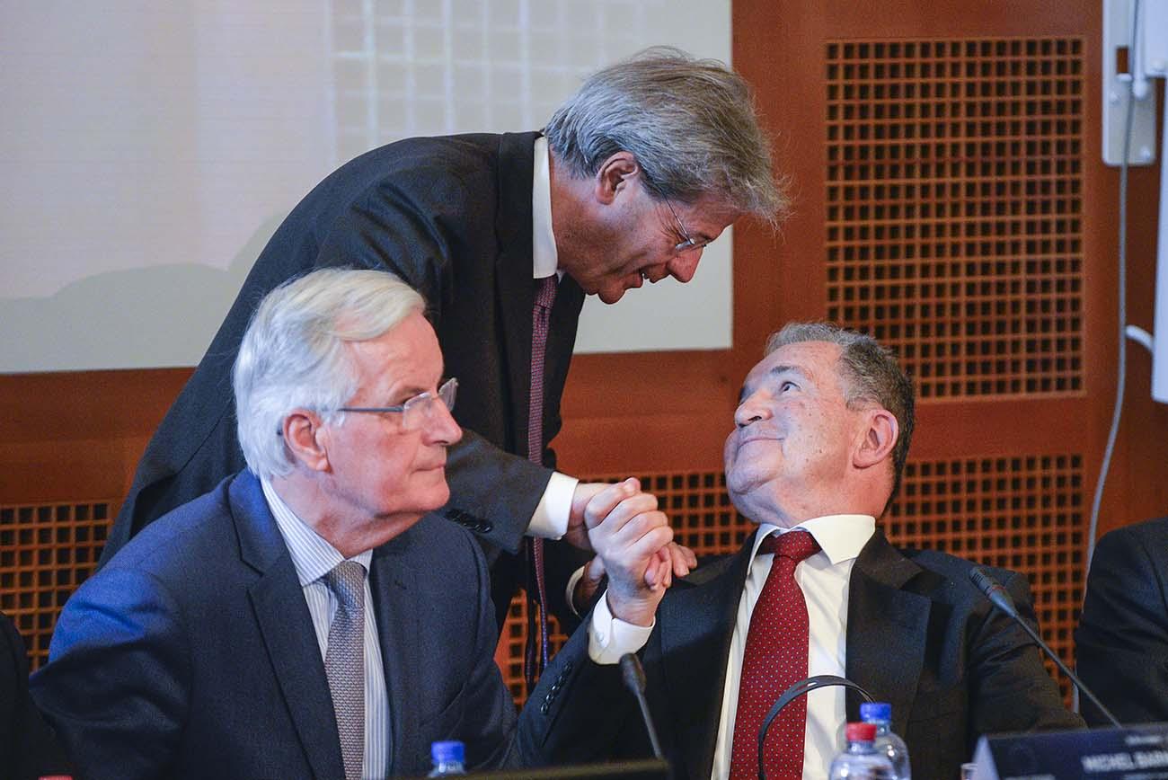 Michel Bernier, Paolo Gentiloni, Romano Prodi
