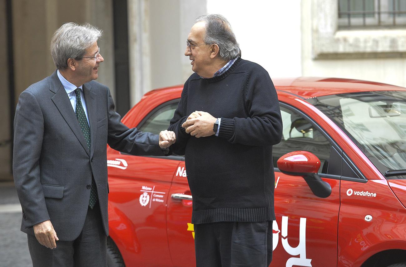 Paolo Gentiloni, Sergio Marchionne
