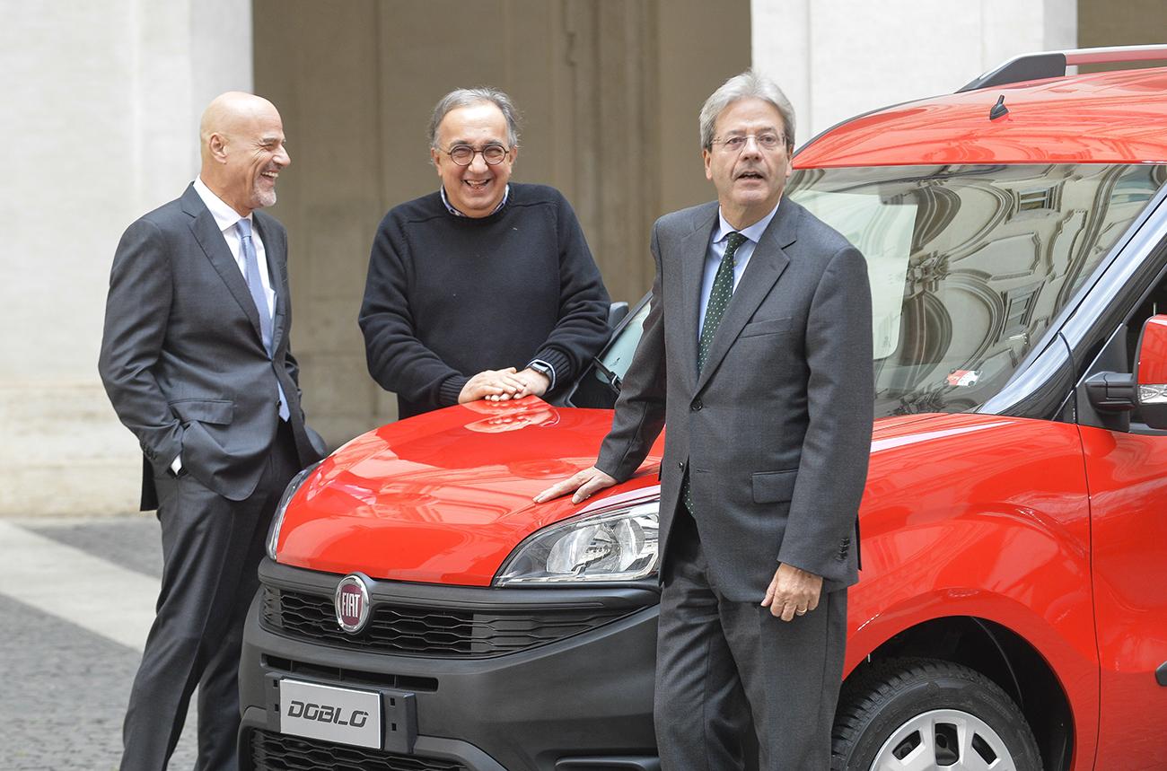 Claudio Descalzi, Paolo Gentiloni, Sergio Marchionne