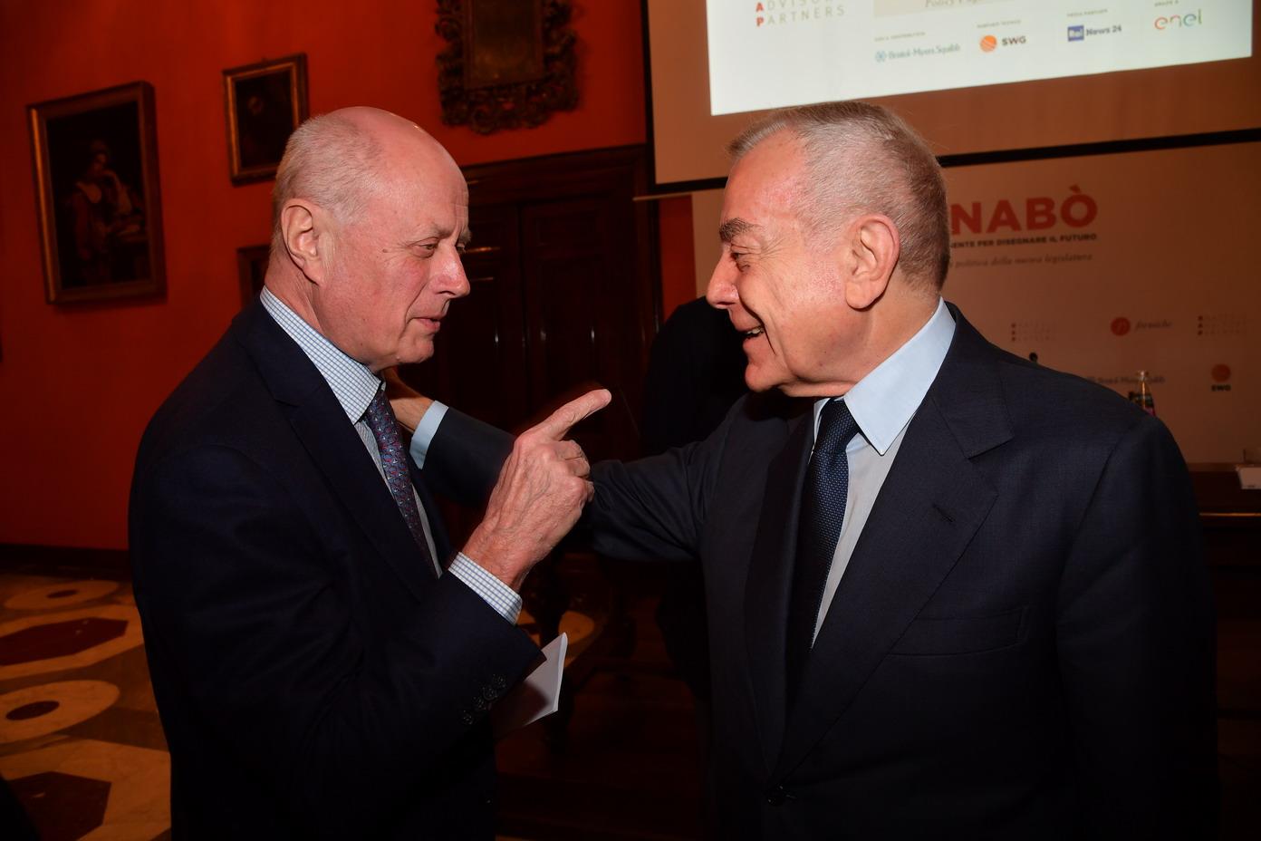Bruno Tabacci e Gianni Letta