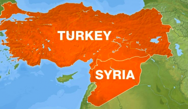 LA TURCHIA CHE AFFRONTA A MUSO DURO IL DIRITTO INTERNAZIONALE, AGGREDENDO LA SIRIA, STATO SOVRANO E INDIPENDENTE