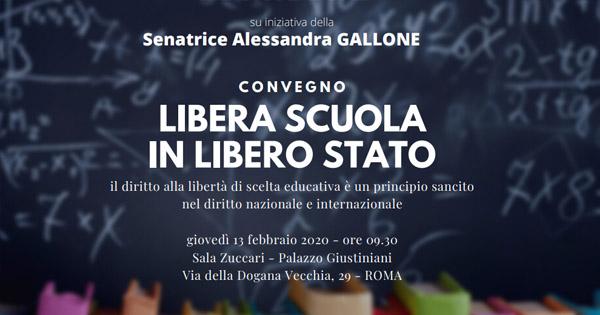 """Roma 13.02 Convegno """"Libera Scuola in Libero Stato"""""""