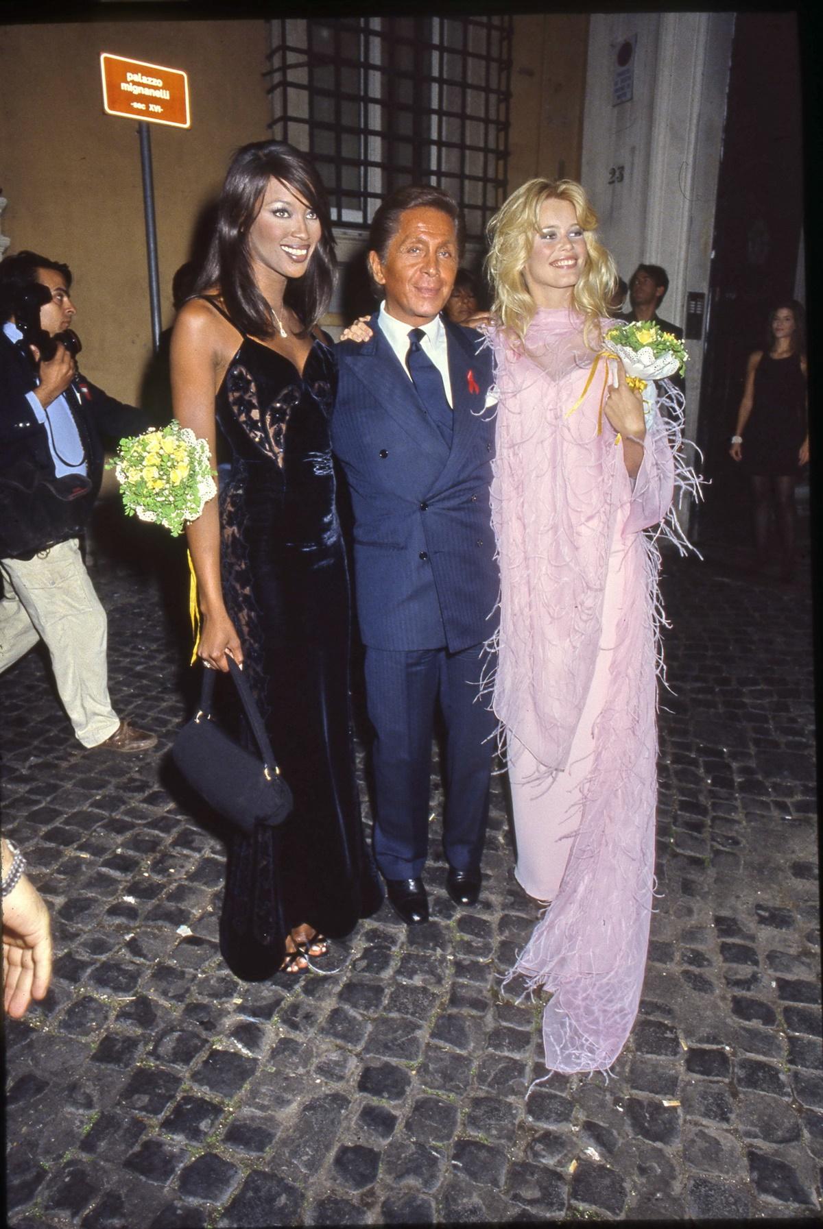 Naomi Campbell, Valentino, Claudia Schiffer