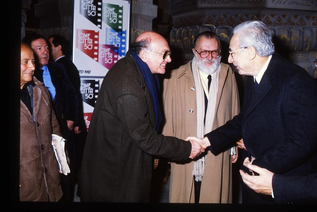 Franco Rosi, Sergio Leone, Francesco Cossiga