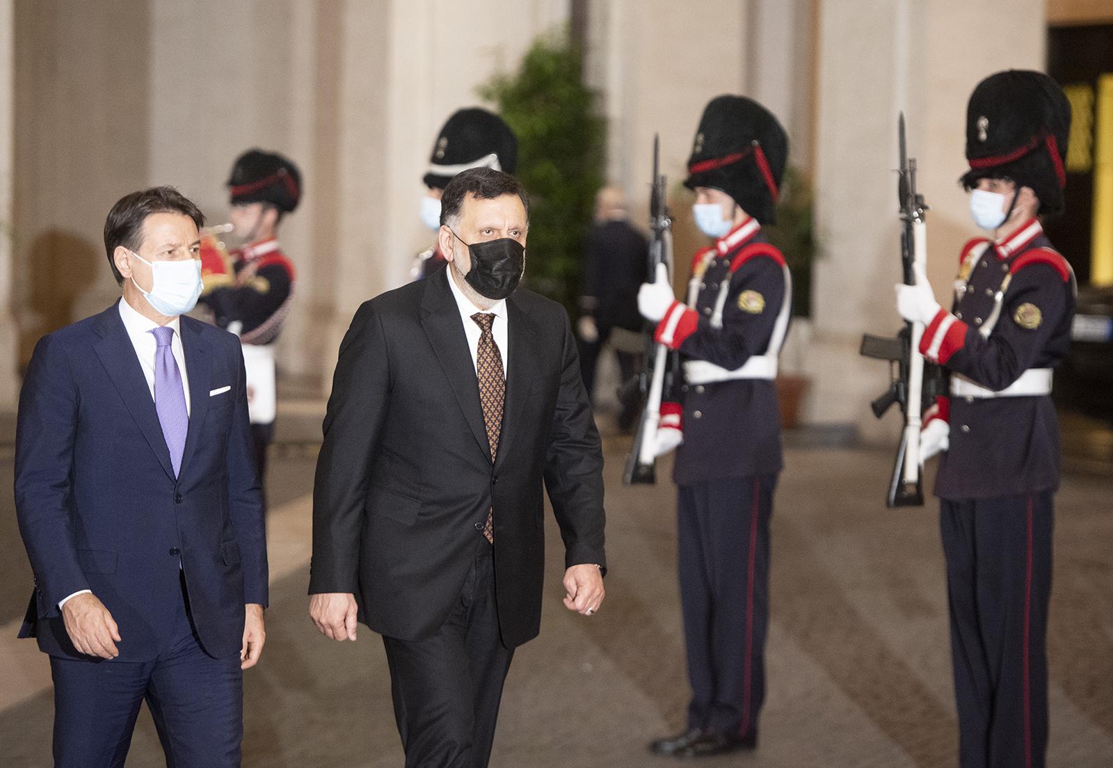Vertice Serraj-Conte. Roma vuole la stabilizzazione (anche economica) della Libia
