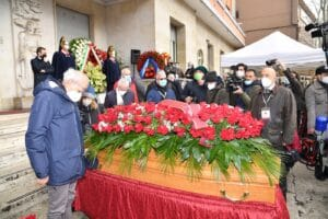 Bersani, Gualtieri, D'Alema e Montezemolo per l'addio a Macaluso. Foto di Pizzi