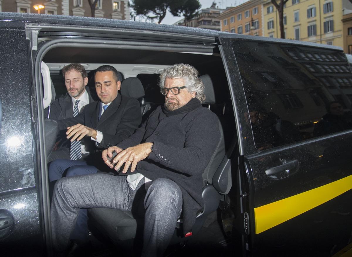 Davide Casaleggio, Luigi Di Maio, Beppe Grillo (2018)