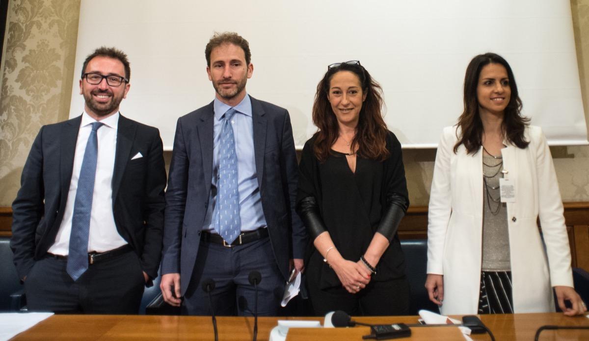 Alfonso Bonafede, Davide Casaleggio, Paola Taverna, Enrica Sabatini (2018)