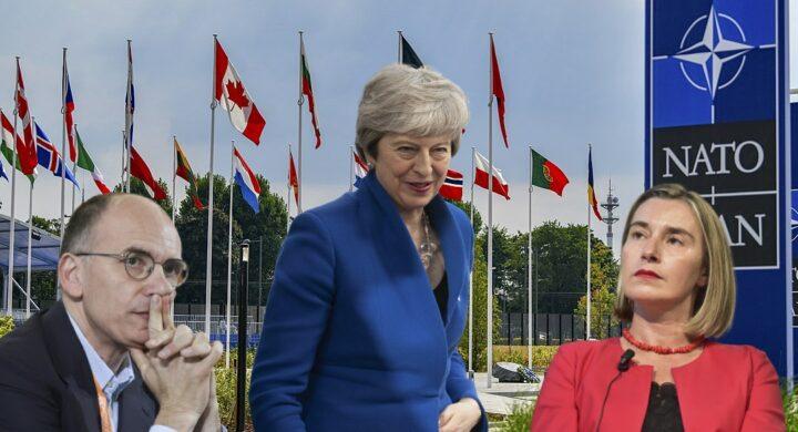 May, Letta e Mogherini. Per la Nato è sfida a tre?