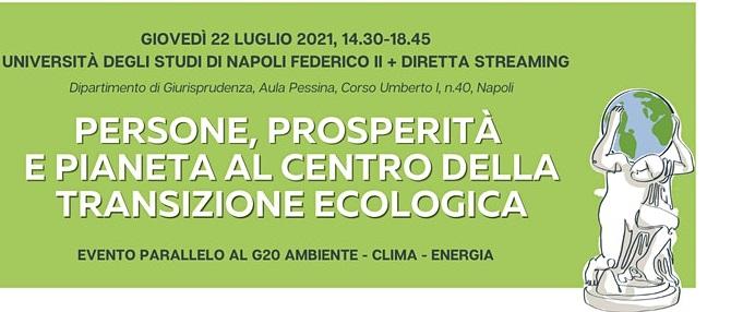 Persone, prosperità e pianeta al G20 di Napoli