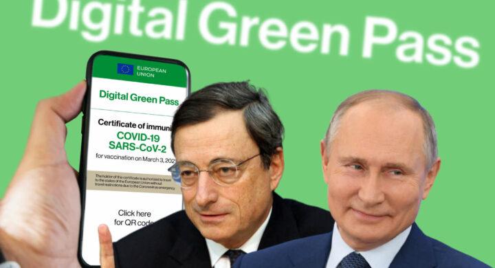 Green pass by Draghi? Coercitivo. L'attacco dei media vicini a Putin