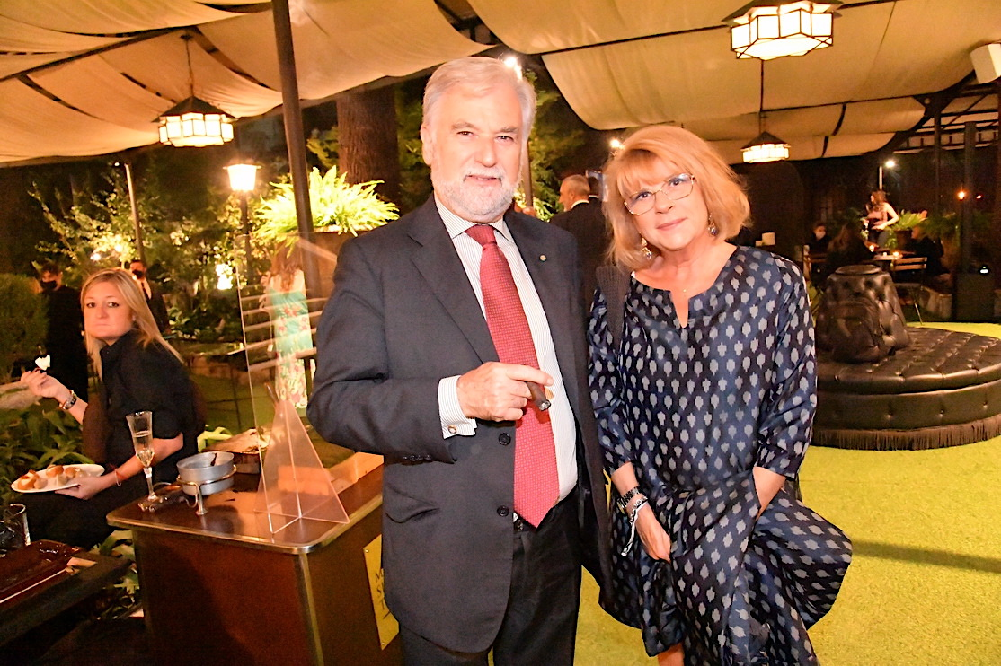 Dario de Marchi e la moglie