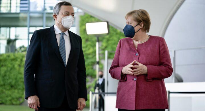 Italia e Germania unite verso l'integrazione Ue. La promessa di Draghi
