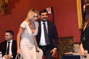Cosa facevano Paola Ferrari e Luca Palamara a Roma? Foto di Pizzi