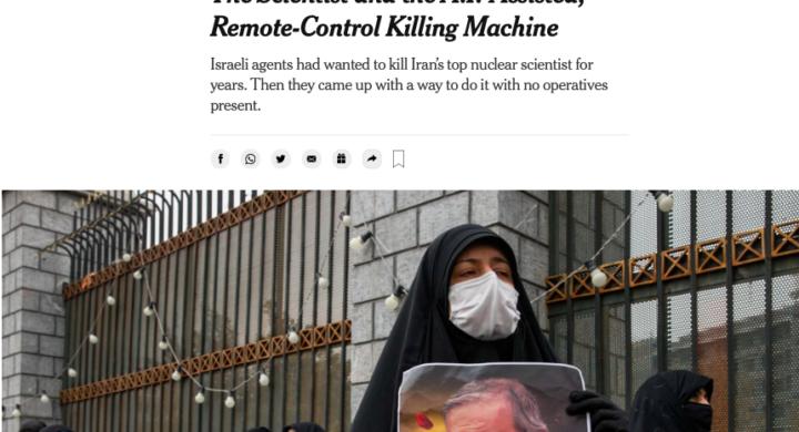 Atomica iraniana, media americani, killer israeliani. L'infowar scatenata