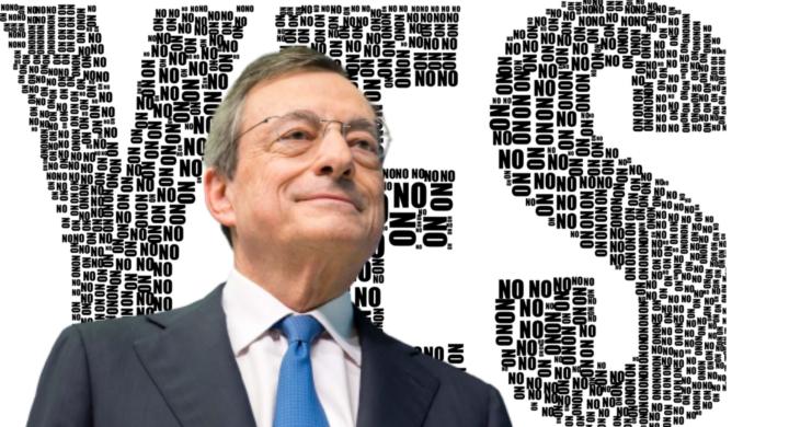 Draghi fra se e sì. Pasquino legge i pensieri del premier