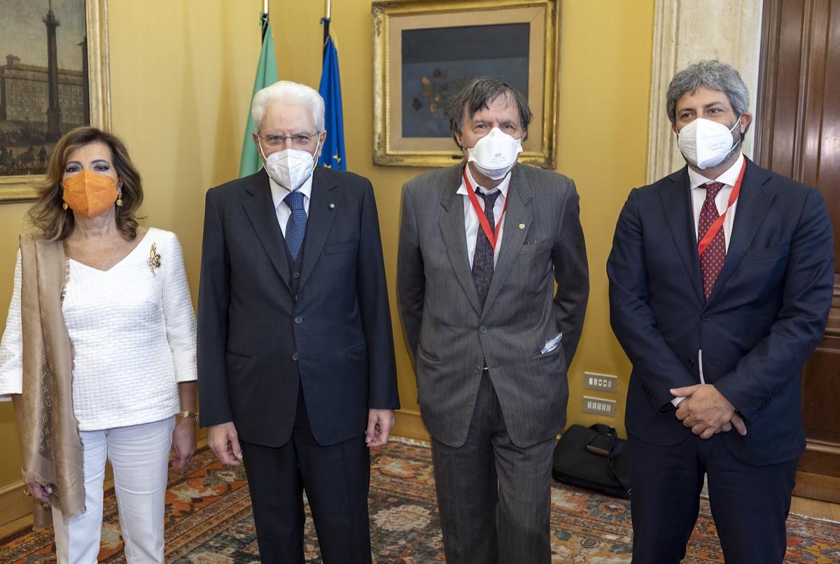Maria Elisabetta Alberti Casellati, Sergio Mattarella, Giorgio Parisi, Roberto Fico