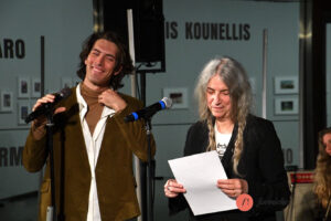 Che ci faceva Patti Smith al Maxxi di Roma. Foto di Pizzi